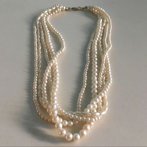 Vintage 1990's Faux Pearl Beaded Necklace